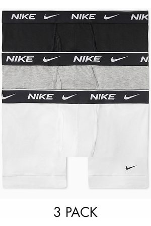 Nike 3-Pack Cotton Stretch boxer briefs with fly in black/gray/white-Multi