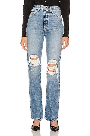 Khaite Danielle High Rise Stovepipe Jean in Denim-Medium