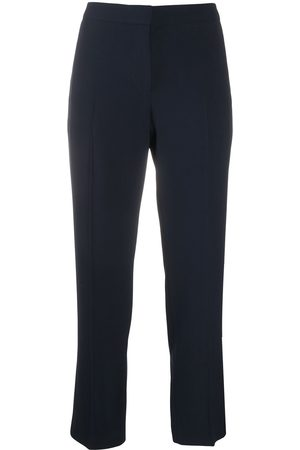 Alexander McQueen High-waisted cropped trousers