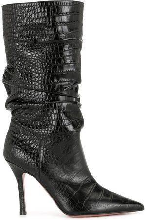 Amina Muaddi Embossed multi-pattern boots