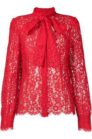 Dolce & Gabbana Pussybow collar lace blouse