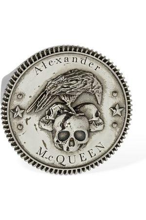 Alexander McQueen Crow & Skull Open Signet Ring