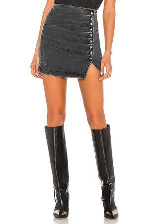 Retrofete Women Denim Skirts - Willa Skirt in Black,Grey.