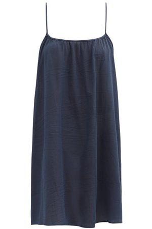 Loup Charmant Racerback Organic-cotton Mini Dress - Womens - Navy