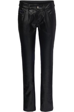 KOCHE' Python Faux Leather & Denim Pants
