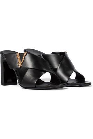 VERSACE Virtus leather sandals
