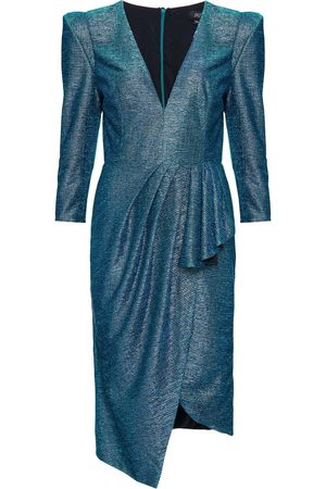 PATBO Metallic fitted midi dress