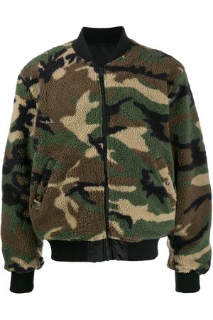 Alpha Industries Men Bomber Jackets - Camouflage faux-shearling bomber jacket
