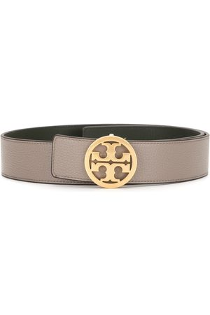 "Tory Burch 1.5"" reversible logo leather belt"