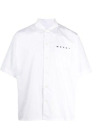 Marni Cuban collar logo shirt