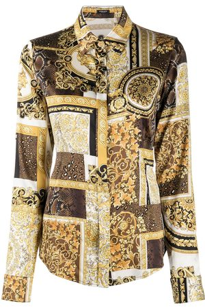 VERSACE Printed silk shirt