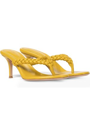 Gianvito Rossi Tropea 70 leather thong sandals