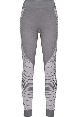Sweaty Betty Stripe-jacquard base layer leggings - Grey