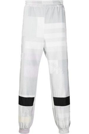 KOCHÉ Square print track pants - Grey