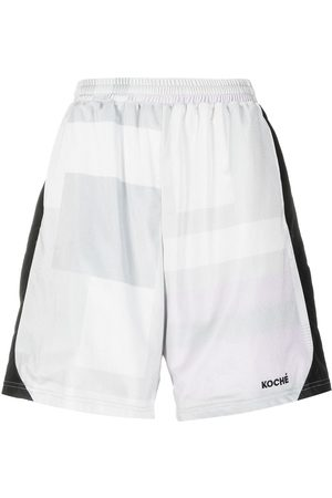 KOCHÉ Embroidered logo shorts - Grey