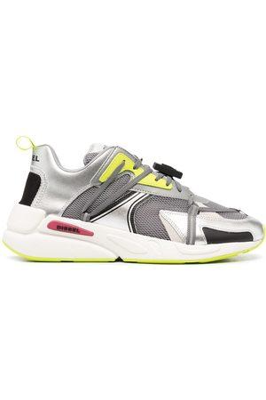 Diesel Men Sneakers - Metallic mesh low-top sneakers