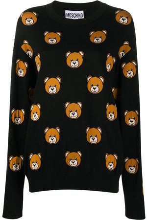 Moschino Teddy bear print knitted jumper