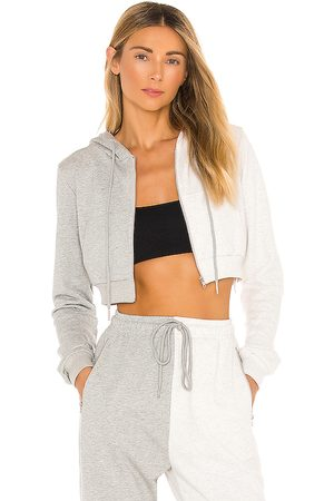 superdown Renna Cropped Hoodie in Grey.