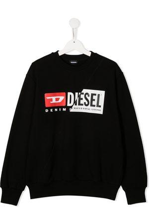 Diesel TEEN broken logo print sweatshirt