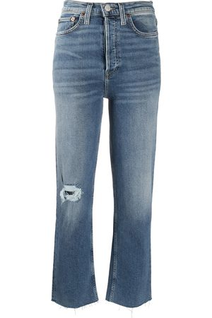 RE/DONE High-rise bootcut jeans