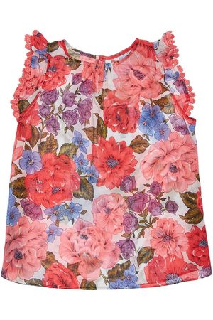 ZIMMERMANN Poppy Floral Print Cotton Tank Top
