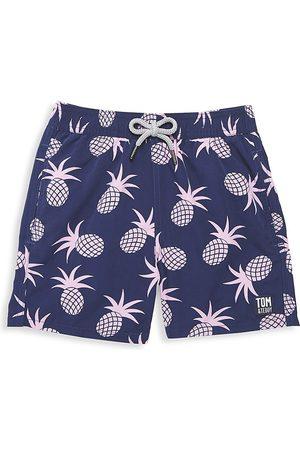 Tom & Teddy Little Boy's & Boy's Pineapple Swim Trunks - - Size 9-10