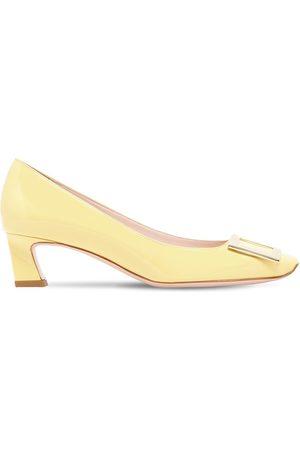 Roger Vivier Women Heels - 45mm Trompette Patent Leather Pumps