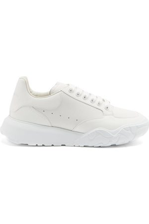 Alexander McQueen Men Sneakers - Court Raised-sole Leather Trainers - Mens