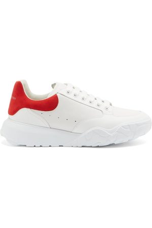 Alexander McQueen Court Raised-sole Leather Trainers - Mens - Multi