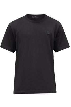 Acne Studios Men T-shirts - Nash Face Logo-appliqué Organic-cotton T-shirt - Mens