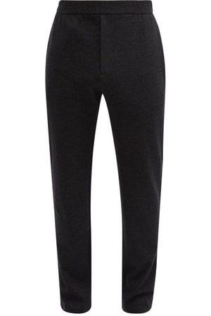 The Row Men Sweatpants - Tale Wool-blend Track Pants - Mens - Dark Grey