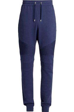 Balmain Men's Printed Ribbed Sweatpants - - Size Small