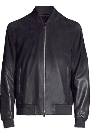 corneliani Men Leather Jackets - Men's Leather Bomber Jacket - - Size 58 (48)