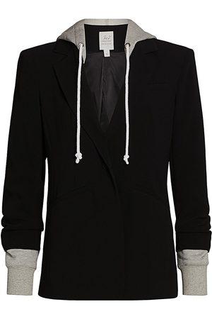Cinq A Sept Women's Khloe Hooded Blazer Jacket - - Size 10