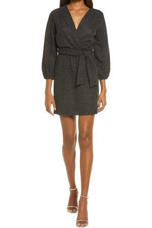 Fraiche by J Women's Lurex Long Sleeve Minidress