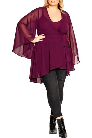 City Chic Plus Size Women's Fleetwood Chiffon Tunic