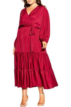 City Chic Plus Size Women's Pretty Tier Long Sleeve Dress