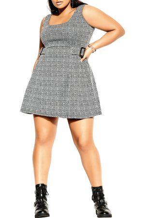 City Chic Plus Size Women's Plaid Flared Dress