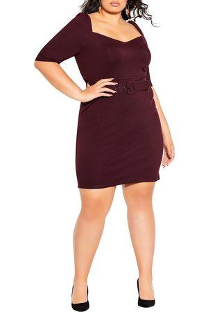 City Chic Plus Size Women's Illusive Sleeve Sheath Dress