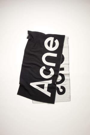 Acne Studios FN-UX-SCAR000114 /white Jacquard logo scarf