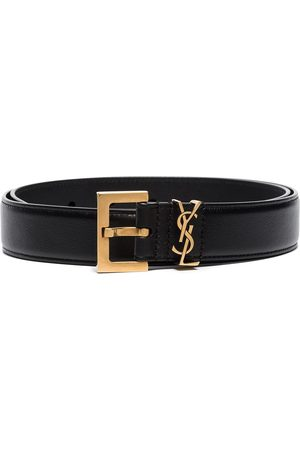 Saint Laurent Women Belts - Monogram square-buckle belt