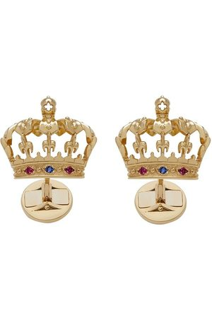 Dolce & Gabbana 18kt yellow crown cufflinks