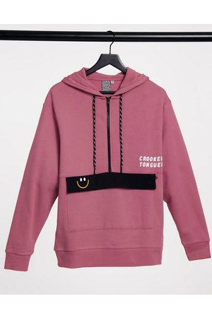 Crooked Tongues Hoodie with large pocket in