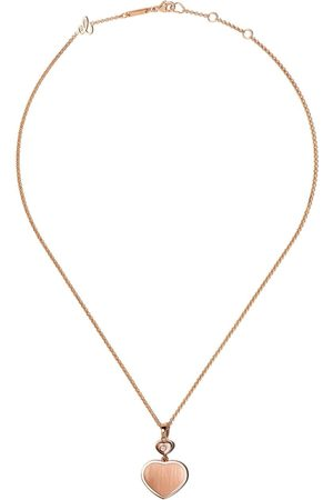 Chopard X 007 18kt rose Happy Hearts - Golden Hearts diamond pendant necklace