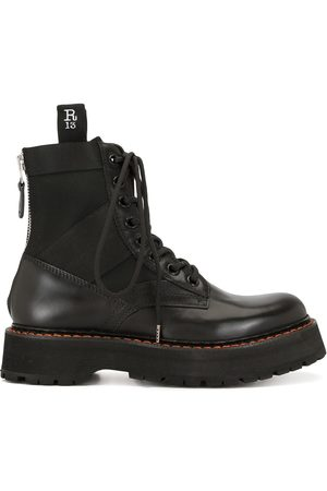 R13 Chunky sole panelled boots