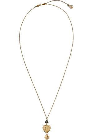 Dolce & Gabbana 18kt yellow sapphire heart pendant necklace