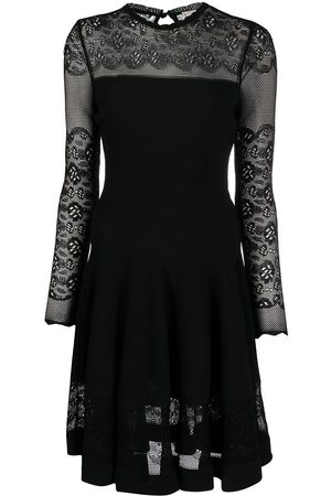 Alexander McQueen Ottoman-knit mini dress