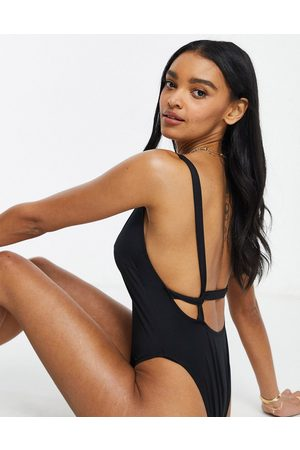 ASOS Women Swimsuits - Fuller bust recycled supportive twist strappy low back swimsuit in