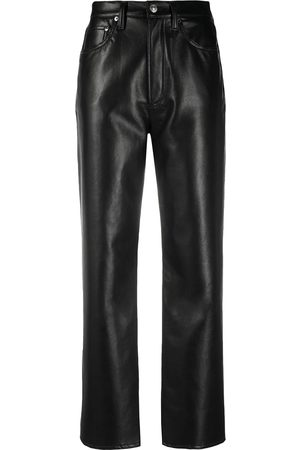 AGOLDE Women Leather Pants - High-waisted leather trousers