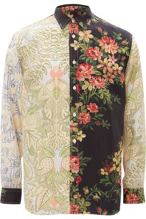 J.W.Anderson Panelled floral print shirt